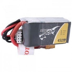 Tattu 11.1V 75C 3S 450mAh Lipo Battery Pack with XT30 Plug