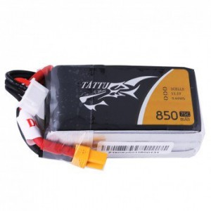 Tattu 11.1V 75C 3S 850mAh Lipo Battery Pack with XT60 Plug