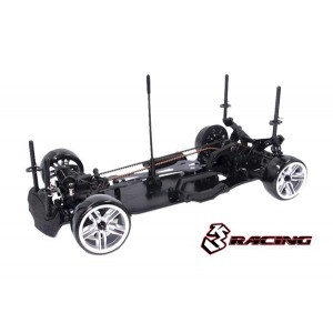 3RACING Sakura D4 Sport Black Edition 1/10 Drift Car Kit (AWD) KIT-D4AWDS/BK