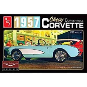AMT AMT1015 1957 Chevy Corvette Convertible 1/25 Scale Plastic Model Kit