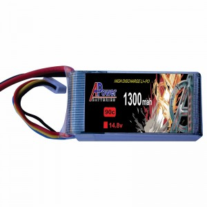 APower High Discharge LI-PO 14.8V 1300mAh 90C Battery