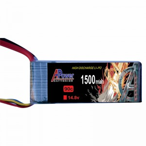 APower High Discharge LI-PO 14.8V 1500mAh 90C Battery