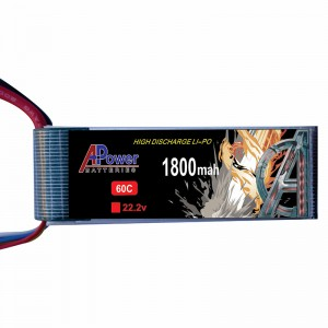 APower High Discharge LI-PO 22.2V 1800mAh 60C Battery