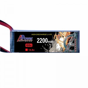 APower High Discharge LI-PO 14.8V 2200mAh 60C Battery