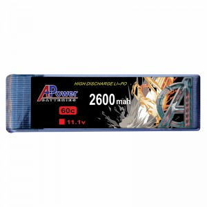 APower High Discharge LI-PO 11.1V 2600mAh 60C Battery