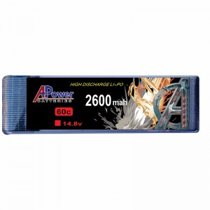 APower High Discharge LI-PO 14.8V 2600mAh 60C Battery