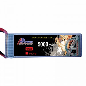 APower High Discharge LI-PO 11.1V 5000mAh 60C Battery