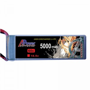 APower High Discharge LI-PO 18.5V 5000mAh 60C Battery
