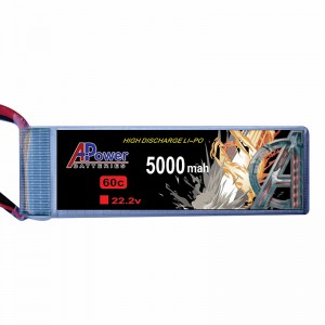 APower High Discharge LI-PO 22.2V 5000mAh 60C Battery