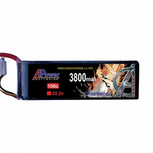 APower High Discharge LI-PO 22.2V 3800mAh 100C Graphene Battery