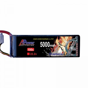 APower High Discharge LI-PO 22.2V 5000mAh 100C Graphene Battery