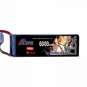APower High Discharge LI-PO 14.8V 6000mAh 100C Graphene Battery