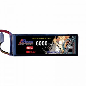 APower High Discharge LI-PO 22.2V 6000mAh 100C Graphene Battery