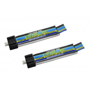 Lectron Pro 3.7V 250mAh 45C Lipo Battery 2-Pack for Blade Inductrix FPV and Tiny Whoop