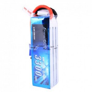 Gens Ace 22.2V 60C 6S 3300mAh Lipo Battery Pack with EC5 Plug