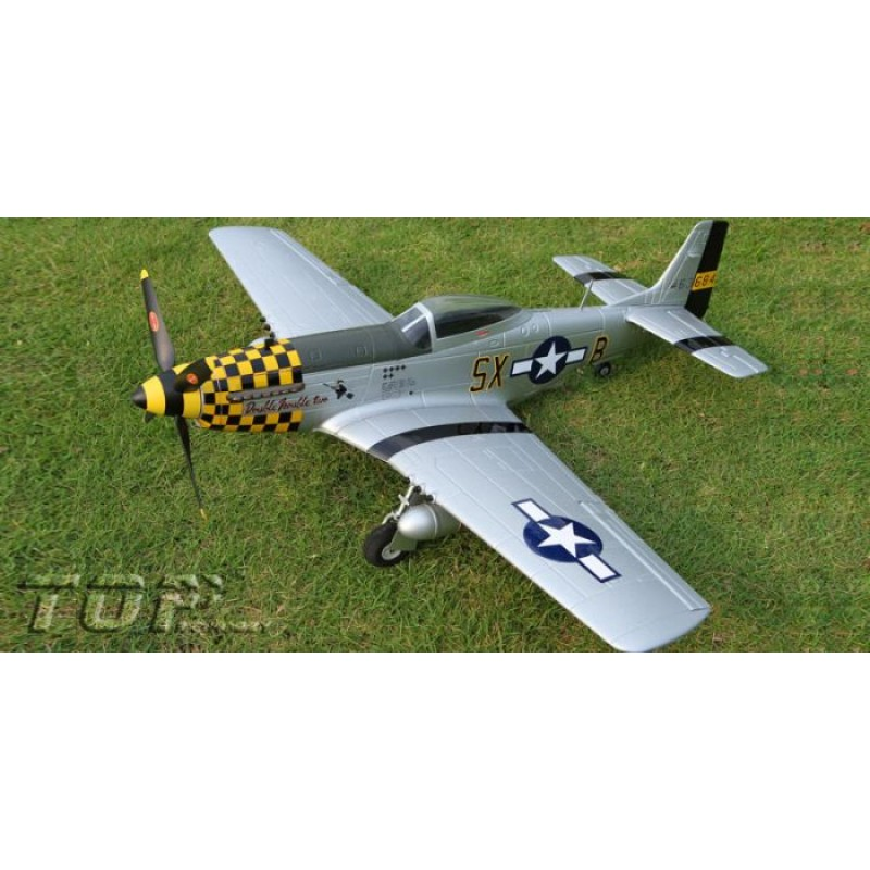 Toprc P-51D Mustang Yellow 750mm/30 00in EPO Electric RC Airplane  Ready-To-Fly