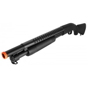 400 FPS M58A Airsoft Tactical Shotgun M500 Heavy Hitter Full Stock