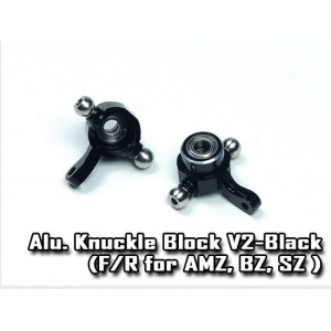 Atomic RC Alu. Knuckle Block V2-Black (F/R for AMZ, BZ, SZ )