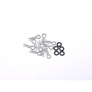 Atomic RC 0.8mm Lexan Body Clip & O-Ring