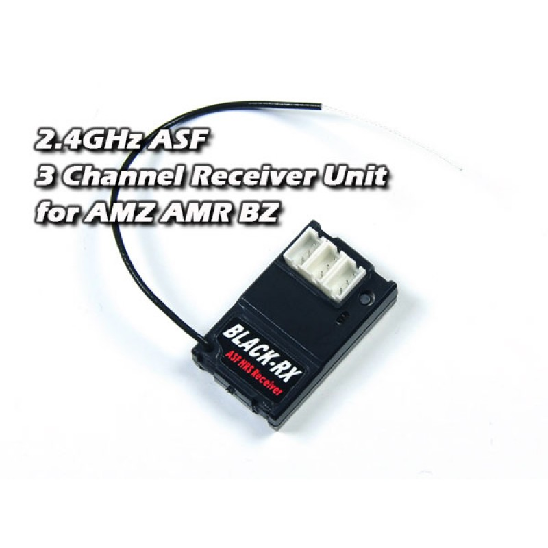 Atomic RC 2.4GHz ASF 3 Channel Receiver Unit for AMZ AMR BZ