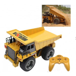 HuiNa Toys 1540 1/18 2.4G 6CH Electric Rc Car Dump Truck Alloy Engineering Vehicle