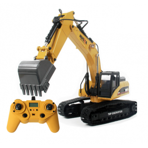 HUINA 1580 Excavator RC Car Toys Styling 23 Channel Road Construction All Metal Truck Autos