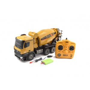 HUINA 1574 1:14 2.4G Concrete Mixer Engineering Truck Light Construction Vehicle