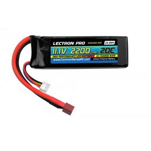 Lectron Pro 11.1V 2200mAh 20C Lipo Battery with Deans-type Connector