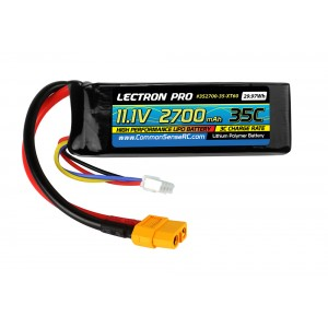 Lectron Pro 11.1V 2700mAh 35C Lipo Battery with XT60 Connector