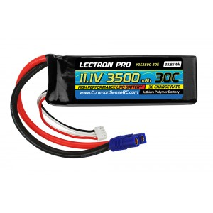 Lectron Pro 11.1V 3500mAh 30C Lipo Battery with EC3 Connector for the E-Flite & Parkzone Planes