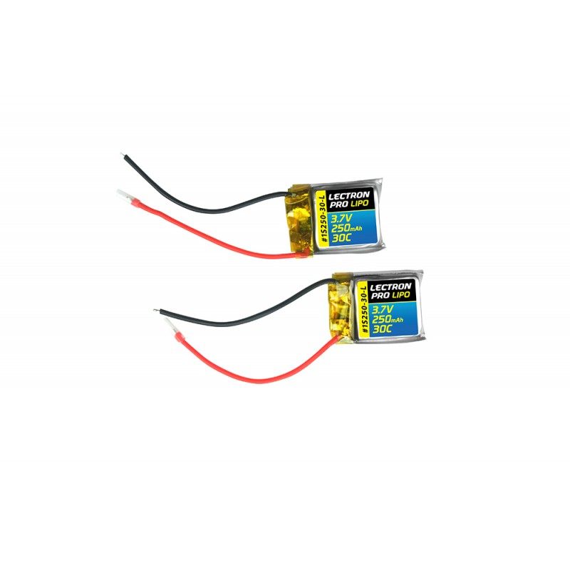 Lectron Pro 3.7V 250mAh 30C Lipo Battery 2-Pack for Syma S107 / S107G Helicopters