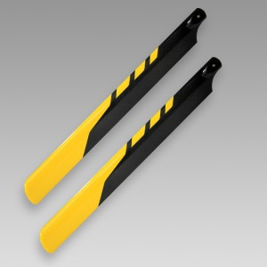 Dynam CF main blade for electric 500 helicopter(430mm,yellow)