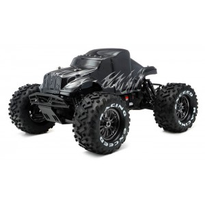 Exceed Mad Beast 1/8Th Monster Truck Racing Edition Ready to Run w/ 540L Brushless Motor/ ESC/ Lipo Battery (Black/Silver)