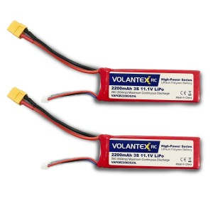 Exhobby  2pcs 11.1V-2200mAh-Lipo-XT60 Plug Battery for RC Boat 792-5