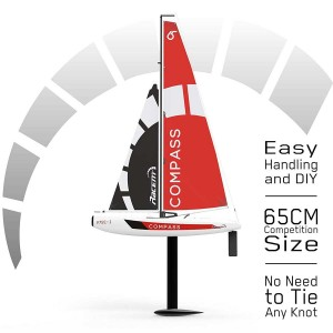 Exhobby Compass 4 Channel Wind Power Sailboat with 650mm Hull for RG65 Class Competition (791-1) RTR