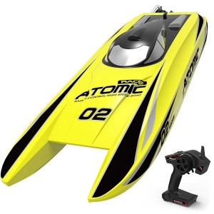 Exhobby Atomic 40mph Super High Speed Boat with Auto Roll Back Function and ABS Unibody Blow Plastic Hull (792-4) ARTR Yellow