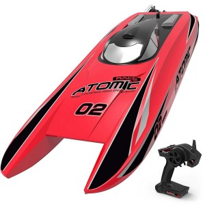 Exhobby Atomic 40mph Super High Speed Boat with Auto Roll Back Function and ABS Unibody Blow Plastic Hull (792-4) ARTR Red