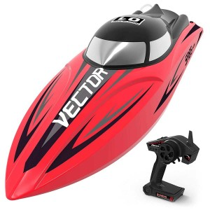 Exhobby Vector SR65 35mph Super High Speed Boat with Auto Roll Back Function and Reverse Function (792-5) RTR Red