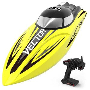 Exhobby Vector SR65 35mph Super High Speed Boat with Auto Roll Back Function and Reverse Function (792-5) RTR Yellow