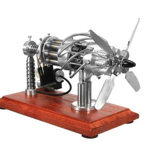 Enginediy 16 Cylinder Stirling Engine Kit Gas Powered Creative Motor