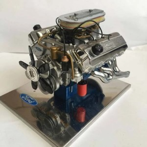 Enginediy Engine Model 1:6 Ford 427 SOHC Car Engine Machine with Metal Body for Gift Collection - Enginediy