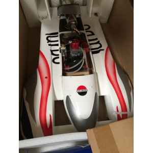 Exceed 1250mm Gas Powered 26CC Hydroplane Fiberglass Speed Boat - USED 04