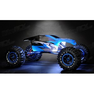 Exceed RC 1/8Th Mad Torque Rock Crawler Ready to Run (Blue) RC Remote Control Radio Truck