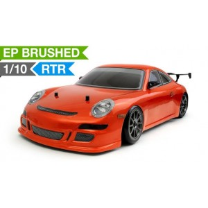 Exceed RC 1/10 Scale MadSpeed Electric Powered Drift Car GT3 Style RC Remote Control Radio Car(Orange)