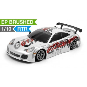 Exceed RC 1/10 Scale MadSpeed Electric Powered RC Drift Car GT3 White 2.4Ghz RC Remote Control Radio Car