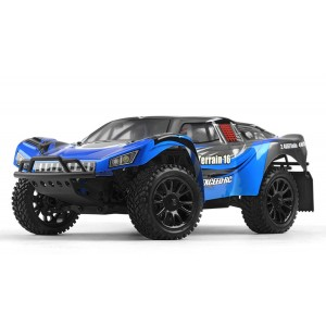 Exceed RC Racing Desert Short Course Truck 1/16 Scale Ready to Run 2.4ghz (AA Blue) RC Remote Control Radio Car