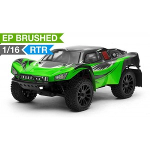 Exceed RC Racing Desert Short Course Truck 1/16 Scale Ready to Run 2.4ghz (AA Green) RC Remote Control Radio Car