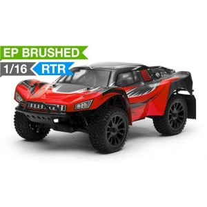 Exceed RC Racing Desert Short Course Truck 1/16 Scale Ready to Run 2.4ghz (AA Red) RC Remote Control Radio Car