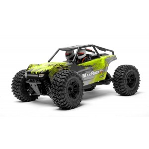 Exceed RC Scale Rock Racer Radio Car 1/16th Scale 2.4Ghz Max Rock 4WD Powerful Electric Remote Control 100% RTR Ready to Run with Waterproof Electronics (Green)