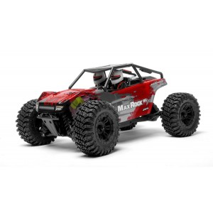 Exceed RC Scale Rock Racer Radio Car 1/16th Scale 2.4Ghz Max Rock 4WD Powerful Electric Remote Control 100% RTR Ready to Run with Waterproof Electronics (Red)